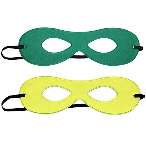 SeasonsTrading Adult Green/Yellow Reversible Superhero Mask