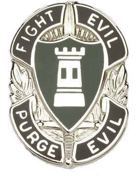 Allied Forces Center Northern Europe Unit Crest (Fight Evil Purge Evil)