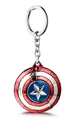 REINDEAR The Avengers Marvel Movie Comics Captain America Spinning Shied Metal Pendant Keychain
