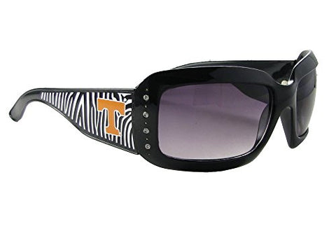 Tennessee Volunteers UT Black Zebra Print Clear Crystals Sunglasses S4ZB