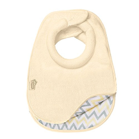 Tommee Tippee Closer To Nature Comfi Neck Bib, Reversible Cream, Small, 2 Count