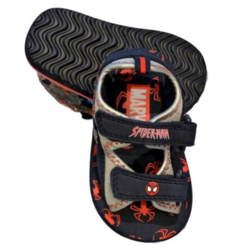 Toddler Boys Blue Spiderman Sandals Rugged Strappy Spider Man Summer Shoes 5-6