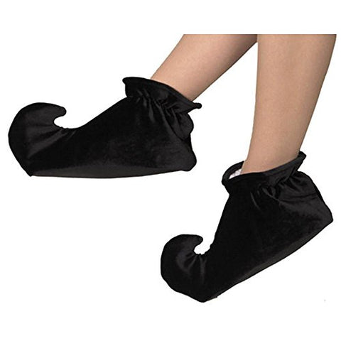 Kid's Black Jester Costume Shoes (Size:Medium)