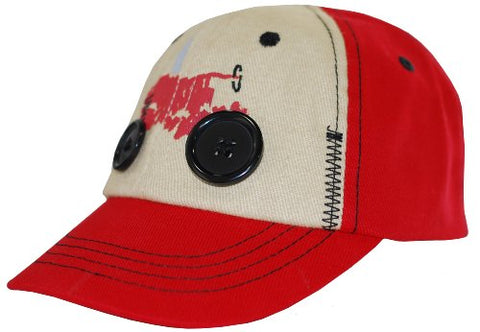 Case IH Two Tone Toddler Hat With Button Wheels