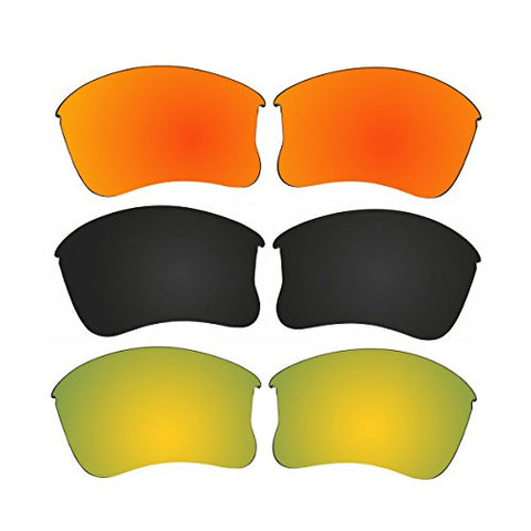 25044f98ceb 3 Pair Replacement Polarized Lenses for Oakley Flak Jacket XLJ Pack ...