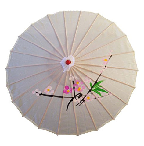 Cloth Parasol with Hand painted design on White Background