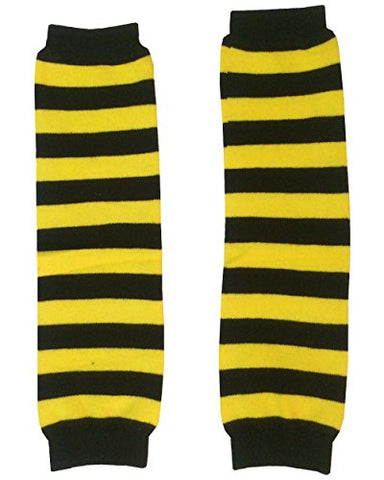 KWC - Yellow & Black Stripes Baby Leg Warmer/Leggings (Bee)