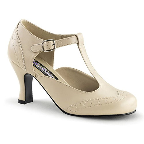 Funtasma FLAPPER-26 womens Cream Polyurethane Pumps Shoes Size - 9