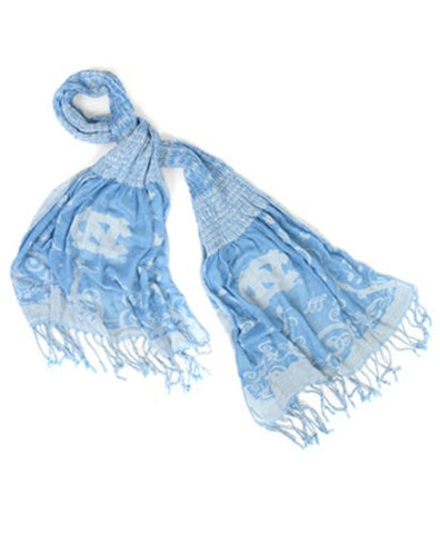 Official NCAA North Carolina Tar Heels Thin Crinkle Shawl Scarf