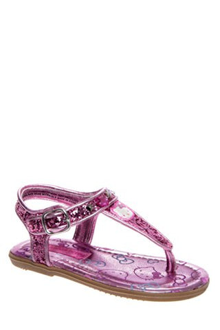 Hello Kitty Toddler Girl's HK Lil Shimmer Light Pink Fashion Sandal Shoes Sz: 7T