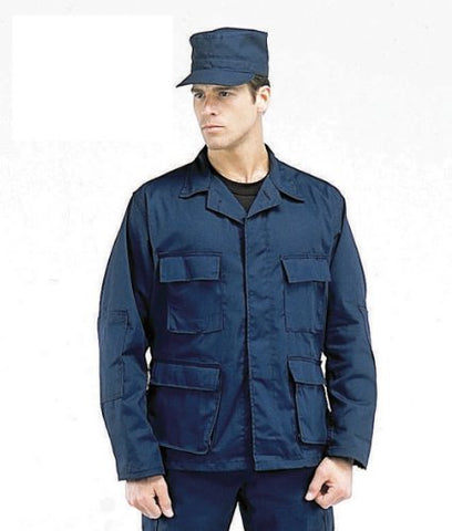 Mens Shirt - Military RipStop BDU, Navy Blue, Large by Ultra Force