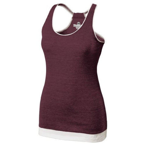 Holloway Juniors Pep Vintage Tank (Medium, Vintage Maroon/White)