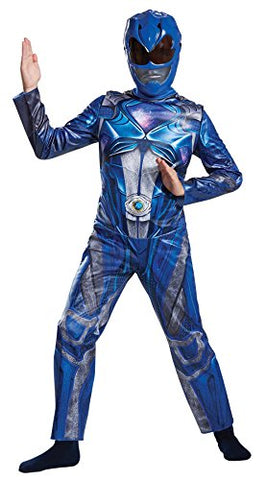 Power Ranger Movie Classic Costume, Blue, Small (4-6)