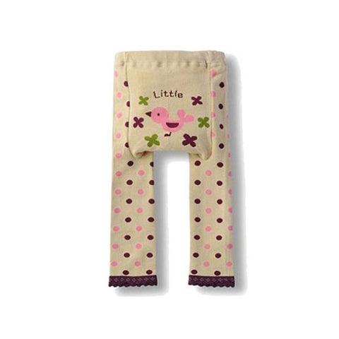 Wrapables Baby & Toddler Leggings, Little Pink Birdie - 6 to 12 Months