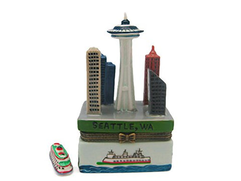 Seattle Souvenirs Treasure Boxes Seattle Downtown Scene
