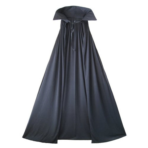 54  Fully Lined Deluxe Black Cape ~ Halloween Costume Accessory
