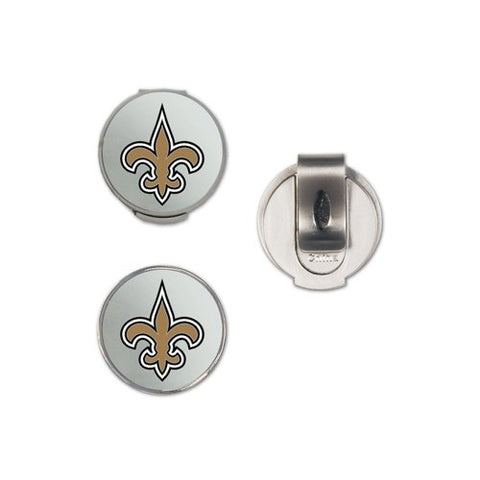 Wincraft Nfl New Orleans Saints A01375 Clamshell Hat Clip With 2 Markers