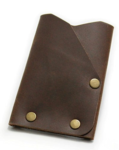 American Bench Craft Men's Frontier 2 Slim Carry Everyday Front Pocket Brown Leather Wallet