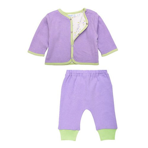 Reversible Cardigan Set - Lilac - 3-6M