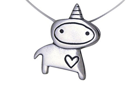 Unicorn Love Sterling Silver Charm Necklace