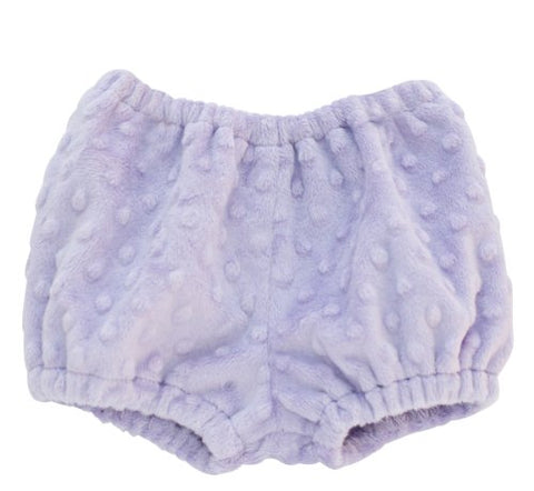 Lavender Minky Dot Diaper Cover