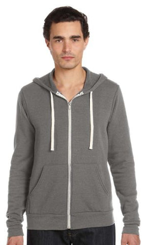 Bella + Canvas Unisex Triblend Sponge Fleece Full-Zip Hoodie (Grey Triblend) (M)
