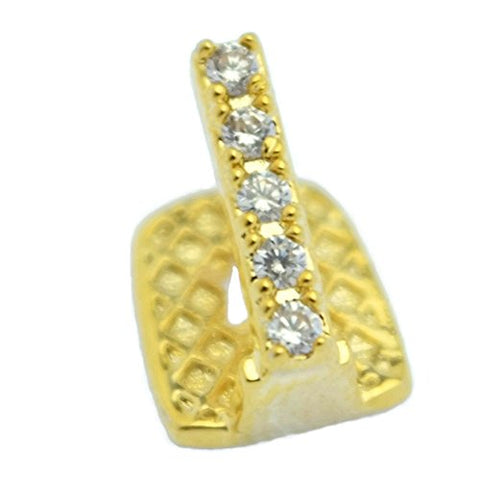 CZ Gap Grillz 14k Gold Plated Single Tooth Top or Bottom Teeth Single Hip Hop Grills