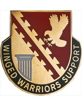 834th Support Bn Unit Crest (Winged Warriors Support)