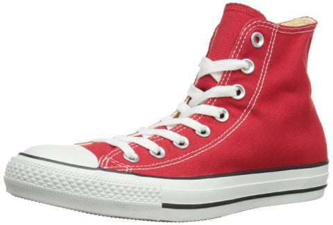 Converse Unisex Chuck Taylor All Star Hi Top Red Sneakers - 9.5 D(M) US
