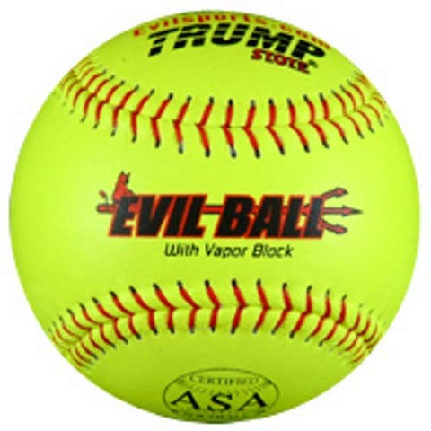 Evil Ball Asa 44-375 Hot Leather Cover 44 Core 375 Compression Softball, 12-Inch Comp
