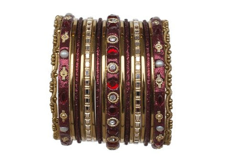 Indian Bangles for Kids Chicklet Maroon Size 2.0