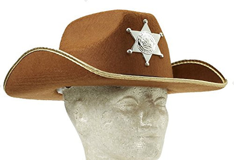 Forum Child Cowboy Hat with Badge, Brown