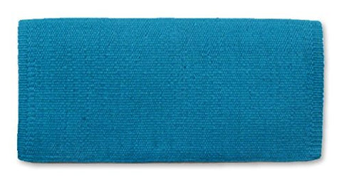 Mayatex San Juan Solid Barrel Racer/Arab Saddle Blanket, Soft Turquoise, 34 X 30-Inch