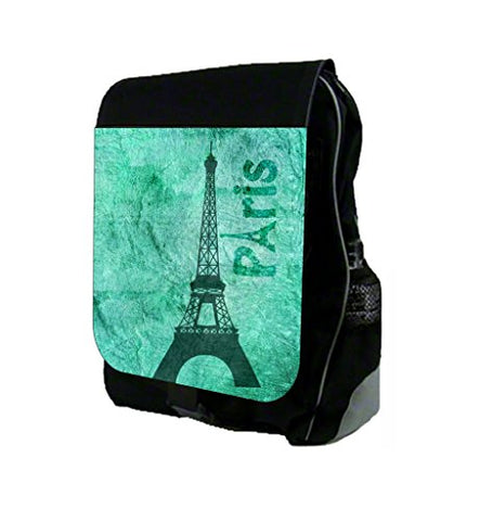 Blue Grunge Eiffel Tower Design Max Wilder TM School Backpack