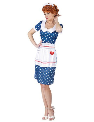 I Love Lucy Sassy Lucy Adult Costume Size Small/Medium (2-8)