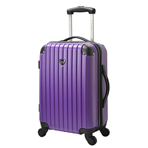 Travelers Club Luggage Madison 20  Hardside Exp Carry-on Spinner, Purple