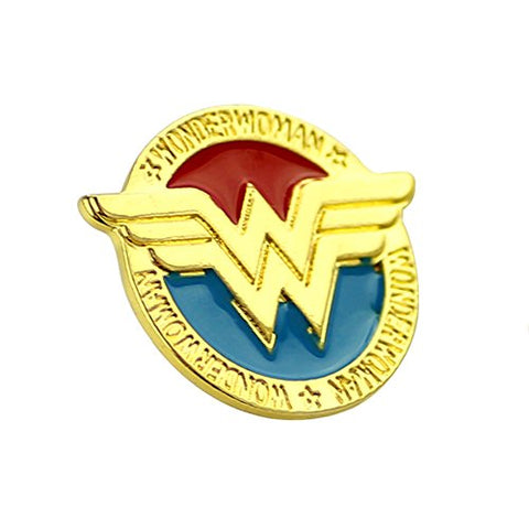 Fashion Jewelry ~ Wonder Woman Brooch Lapel Pin (XZ097)