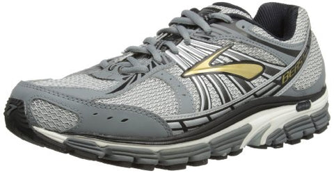 Brooks Men's Beast '12 Motion Control Running Shoes, Color: Gld/Pvmnt/Blk/Slvr/Wht, Size: 8.0 Wide 2E