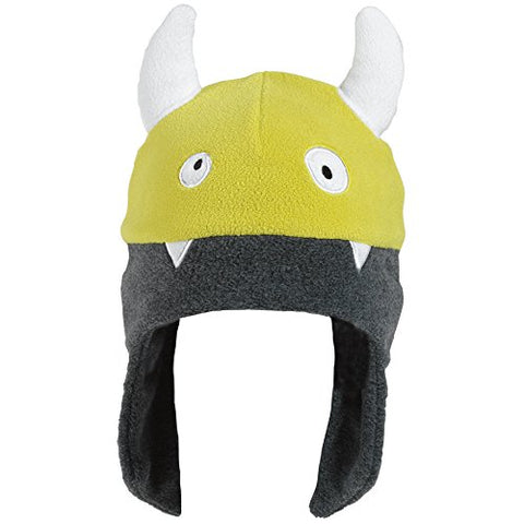 Turtle Fur Kids Silly Viking, Chelonia 150 Fleece Earflap Beanie, Charcoal