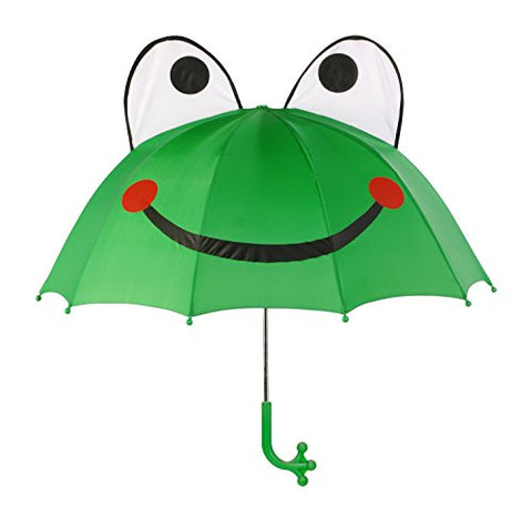 Kidorable Kids Frog Umbrella, Green, One Size