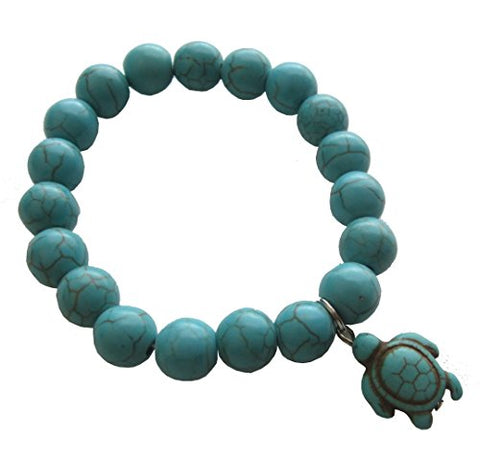 Turquoise Sea Turtle Bracelet - Handmade with Turtle in Turquoise Color - Hawaiian Sea Turtle Bracelet