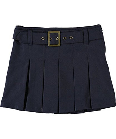 French Toast Big Girls' Scooter with Grommeted Belt - navy, 12