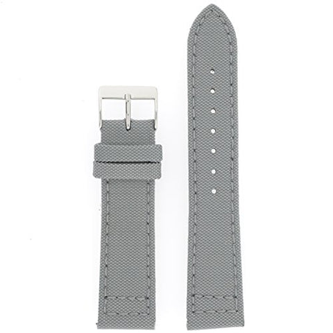 Tech Swiss LEA1200-22SS Mens Watch Band Grey Canvas Style Water Resistant 22 millimeters