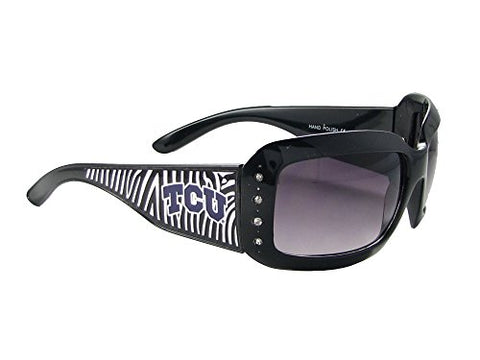 Texas Christian University Horned Frogs TCU Zebra Print Crystal Sunglasses S4ZB