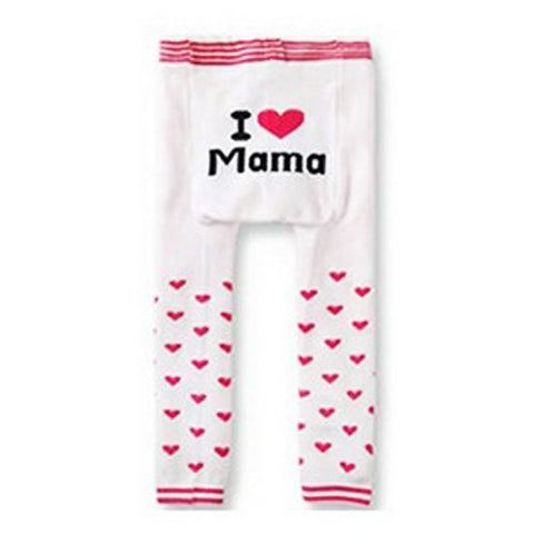 Wrapables Baby and Toddler Leggings, I Heart Mama White, 12-24 Months