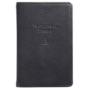 NATIONAL PARKS Pocket Reference Guide in Traditional Black Leather -