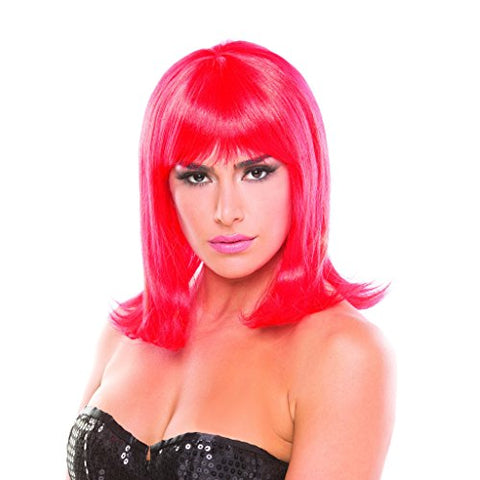 Red Solid Color Doll Bangs Wig