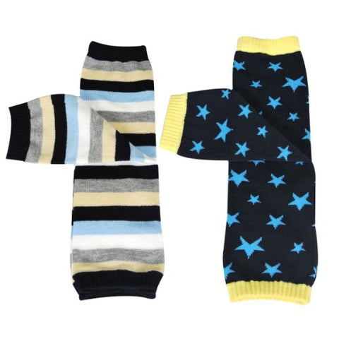 Wrapables Colorful Baby Leg Warmers (Set of 2) - Stars & Stripes Blue