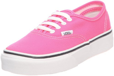 Vans Girls' Authentic , (Neon) Pink/White-9.5 Toddler