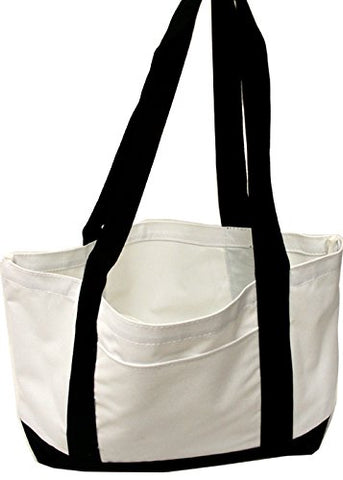 P&o Cruiser Boat and Beach Tote Bag (1, White/Black)
